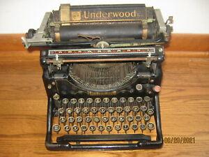 Underwood Manual Typewriter Model 5 ? Vintage Parts or Repair