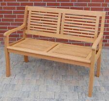 Casaya Gartenbank Paolo 2-Sitzer aus Eukalyptus Hartholz Holzbank in Teakoptik