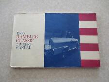 Original 1966 Rambler Classic automobile owner's manual