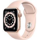 Apple Watch Series 6 40mm GPS Gold Aluminum Case Sport Band MG123LL/A
