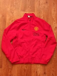 MANCHESTER UNITED 2009 2010 SQUAD FOOTBALL SOCCER TRACK TOP JACKET NIKE Size S