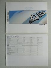 Prospekt Volvo 480 (480 ES - Turbo) mit Datenblatt, 1988, 32 Seiten