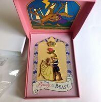 Disney Beauty and the Beast Stained Glass Boxed Set Jumbo Pin LE Princess