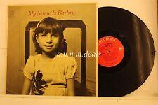 """My Name is Barbra - Barbra Streisand, LP 12"""" (G)"""