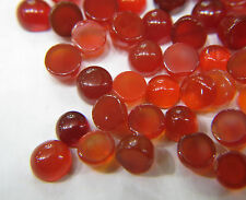 10cts Loose Red Onyx Round Cabochon 4.0mm Approx 30pc In Lot Opaque