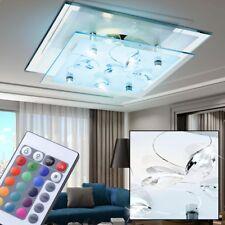 RGB LED Decken Leuchte Wohn Ess Zimmer Fernbedienung Kristall Glas Lampe DIMMBAR