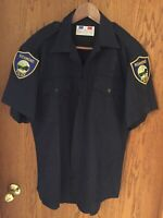 Vintage 1960's 70's Richmond California Official Police Uniform Button Up Shirt