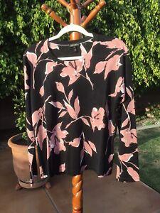 ESCADA  Virgin Wool Silk Sweater Black Size L