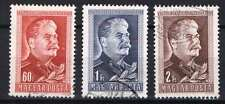 Hungary 1949. J. V. Stalin nice perforation set, used