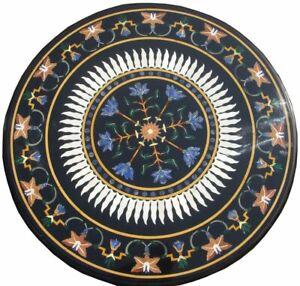 "24"" marble Table Top semi precious stones handmade work"