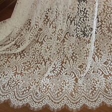 Off White Chantilly Bridal Lace Fabric dress non-stretch 130cm Wide 1 yard