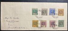 1939 Ocean Gilbert & Ellice Island King George V Stamps Cover To Australia B