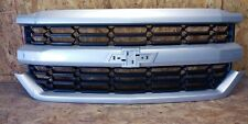 2016 2017 2018 chevy silverado 1500 grille used silver original with dent