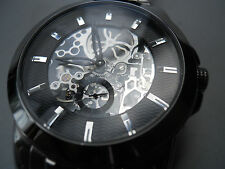 Fossil skeleton Automatic men's water resistant stainless steel watch.ME-1027