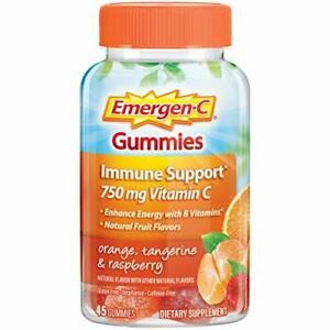 Emergen-C 750mg Vitamin C Gummies for Adults, Immunity Gummies, 45 Count