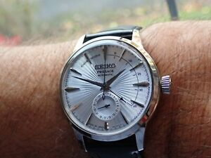Seiko Presage Cocktail Time Automatic Skydiver Dial Limited Edition SSA343J1 Box