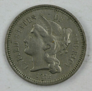 "1873 Closed ""3"" 3 Cent Piece Proof Reverse"