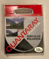 Quantaray Filter Circular Polarizer Filter Lens 58mm Canon Nikon Sony
