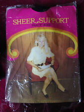 exciting! Vintage Sheer support navy pantyhose size med tall
