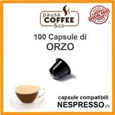 100 capsule cialde ORZO compatibili NESPRESSO
