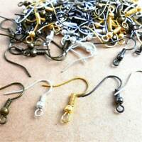 200x Gold/Silver/Black Earring Hook Wire Hypoallergenic Ear Wire DIY Jewelry Set
