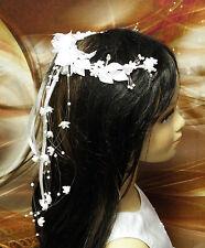 Haarschmuck Haarkranz Kopfschmuck Haarreifen Kommunion FK-11 Ivory Creme Weiss