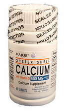 Major Pharma Oyster Shell Calcium, with Vitamin D, 500 mg- 60 tab