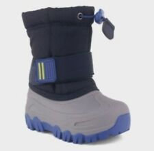 New Cat & Jack Barrett Winter Boots Navy Toddler Boys Shoe Size 4