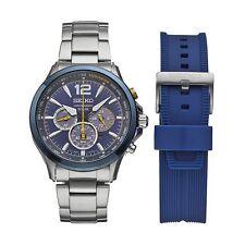 New Seiko Solar Men's Chronograph Jimmy Johnson Special Edition Watch SSC505