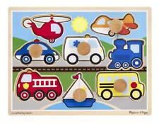 Melissa and Doug Vehicles Jumbo Knob Wooden Puzzle (8 pcs)