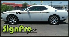 New Dodge Challenger Fury 2011-2016  Stripes Graphics Decals Side Stripes Colors