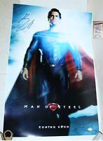 ! Henry Cavill autographed 20x30 Superman, Man of Steel poster JSA PSA WITNESS !