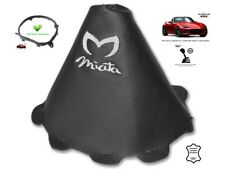 Gear Stick Gaiter For Mazda MX5 Roadster ND 2014-18 White Embroidery + Frame