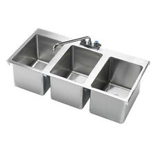 "Krowne Metal Hs-3819 3 Compartment 36""W Drop-In Hand Sink"