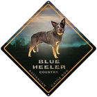 BLUE HEELER AUSTRALIAN CATTLE DOG TIN SIGN BLUE HEELER AUSTRALIAN ROAD SIGN