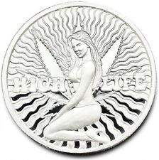High Life It's Always 420 Marijuana Clock Proof 1 oz .999 Fine Silver Coin #269