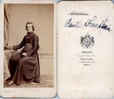 Persus, Paris, Jeune curé en soutane nommé Paul Duchemin, circa 1870 CDV vintage