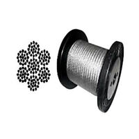 """Galvanized Wire Rope Cable 5/32"""", 7x19: 100, 200, 250, 500, 1000 Coil & Reel"""