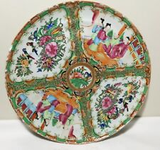 Antique 19th C China Export hand painted famillie Rose porcelain plate  Dia 24cm
