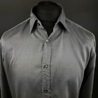 HUGO BOSS Mens Formal Shirt 41 16 (MEDIUM) Long Sleeve Graphite Regular Fit