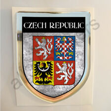 Czech Republic Sticker Coat of Arms Resin Domed Stickers Flag 3D Adhesive Car