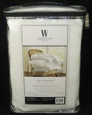 Wamsutta Classic White Ringspun Cotton Twin Blanket – New!