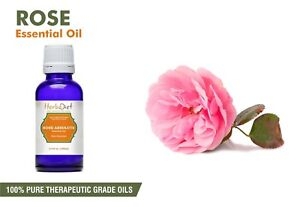 Rose Essential Oil 100% Pure Natural Aromatherapy Oils Therapeutic Grade