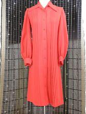 VINTAGE LATE 1960s - SUSAN SMALL - CLASSIC ORANGE SHIRT DRESS - S - 8-10