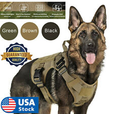 New listing Tactical Dog Harness with Handle No-pull Large Military Dog Vest Us Working Dog