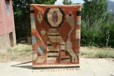 Vintage Moroccan Boujad Rug berber carpets handmade azilal carpets wool tapis