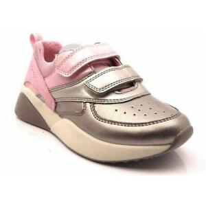 GEOX SINEAD GIRLS JUNIOR INFANT KIDS CHILDRENS ACTIVE CASUAL LEATHER TRAINERS