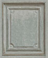 Carta da Parati Rasch-VINTAGE WOOD PANEL-Pattern in finta Porta-Verde/Beige -524413