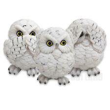 THREE WISE OWLS FIGURINE ORNAMENT BIRDS SEE NO SPEAK NO HEAR NO EVIL 8CM