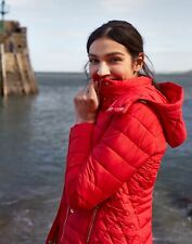 Joules Womens Linden Padded Coat - Red - 16